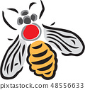 昆蟲圖像,例證 48556633