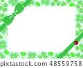 Clover white clover meat ladybug ribbon frame 48559758