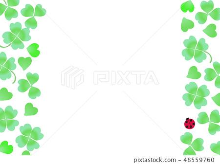 Clover white clover meat ladybird frame 48559760