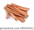 Chandan or sandalwood sticks isolated 48565641
