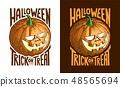 Halloween retro vintage pumpkin Jack-o-lantern 48565694
