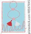 Spring 8 march vector postcard martisor elements 48567045