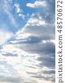 雲 雲の形状 cloud shape 雲朵 天空 blue sky 藍天 青空と白雲 晴朗 ほがらか 48570672
