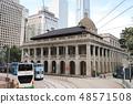 tram at Hong Kong Island, China, Feb 2019 48571508