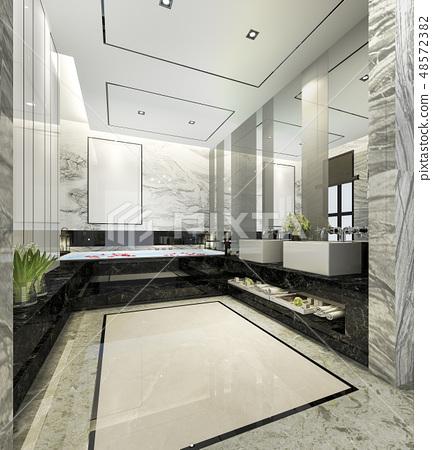 modern bathroom with luxury tile decor 48572382