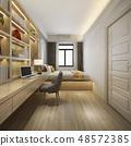 luxury bedroom suite in hotel with tv 48572385