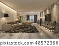 modern dining room and living room 48572396