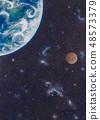 宇宙,地球和小行星 48573379