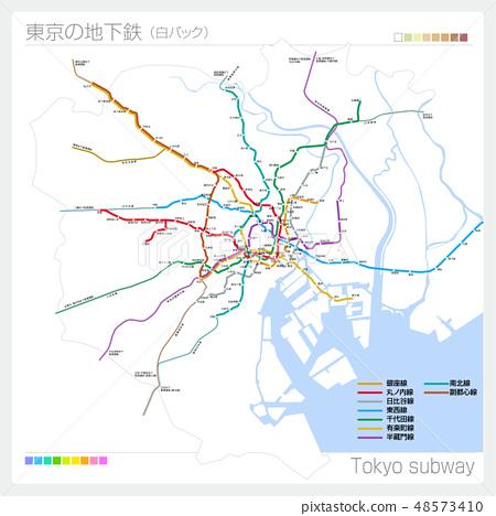 Tokyo subway map · Tokyo subway (white back) 48573410