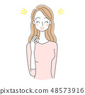 Female illustration Facial expression smile 48573916