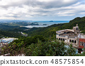 View to the church and coast, Jiufen, Taiwan 48575854
