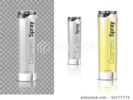 Mockup Realistic Transparent Spray Bottle Cosmetic 48577778