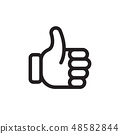 Hand like icon. Vector illustration 48582844