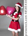 산타 의상을 입은 여성 48585430