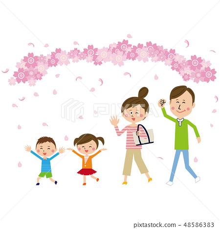 팝 가족 꽃놀이의 명소 외출 48586383