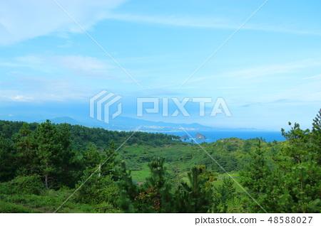 제주 서귀포 해안, 바다,송악산 48588027