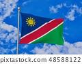 펄럭이는 나미비아의 국기 48588122