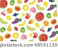 水果水彩紋理 48591130
