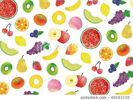 과일 수채화 텍스처 48591130
