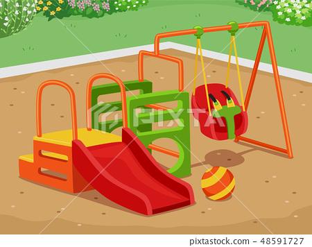 Toddler Playground Illustration 48591727