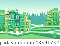 绿色 城市 场景 48591752