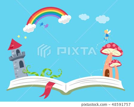 Storytelling Fantasy Book Background Illustration 48591757