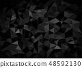 Black Crystalline Polygonal Background 48592130
