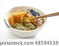 ผักดองมิโซะผักดองมิโซะผักดองโตโฮกุฟูกูชิม่าจังหวัดดองอาหารญี่ปุ่นสีขาวหลัง daikon หัวหอม 48594539