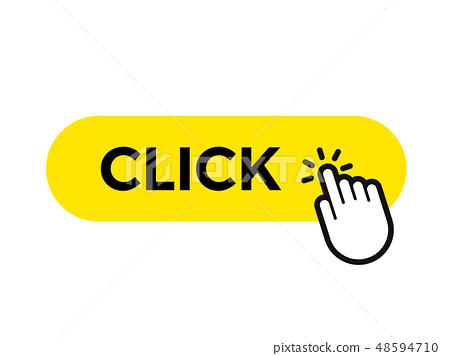 Click bar and finger vector web button icon  48594710