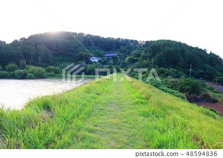 수산저수지,농촌,호수, 48594836