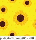 seamless pattern yellow sunflower background 48595083