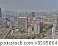 Tokyo city skyline. Bunkyo ward aerial view. 48595804