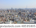 city skyline with Bunkyo and Taito wards 48595805