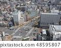 Tokyo city skyline. Bunkyo ward aerial view 48595807
