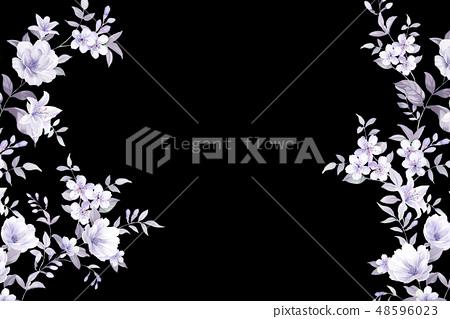 우아한 수채화 손으로 그린 꽃 48596023