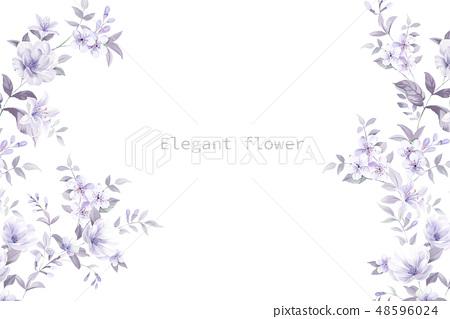 優雅的水彩手繪花卉 48596024