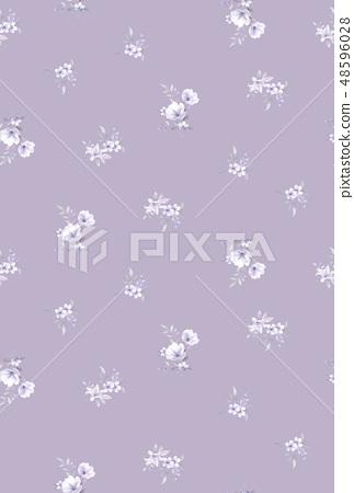 優雅的水彩手繪花卉 48596028