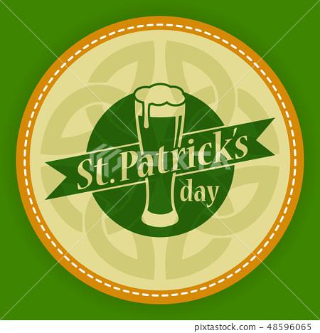 Vector St Patrick day irish logo labels icon  48596065