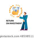 Flat Banner Return on Investment Illustration.  48598511