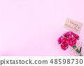 Mother's Day Carnation Gift Card カーネーション トップビュー モックアップ Mother's Day carnation 48598730