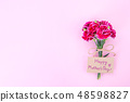 Mother's Day Carnation Gift Card カーネーション トップビュー モックアップ Mother's Day carnation 48598827