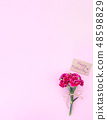 Mother's Day Carnation Gift Card カーネーション トップビュー モックアップ Mother's Day carnation 48598829