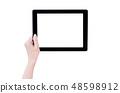 Female hand smartphone tablet cut り抜き クリッピングパス mockup path 48598912
