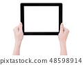 Female hand smartphone tablet cut り抜き クリッピングパス mockup path 48598914