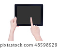 Female hand smartphone tablet cut り抜き クリッピングパス mockup path 48598929