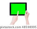 Female hand smartphone tablet cut り抜き クリッピングパス mockup path 48598995