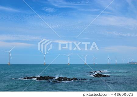 해양풍력발전기,바다,청정에너지,등대 48600072