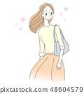 女性例證微笑生活方式 48604579