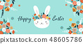 Happy Easter vector illustration, greeting card, poster 48605786