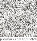 Vector Illustration of banana fruit sketch for design, website, background, banner. Travel and 48605928